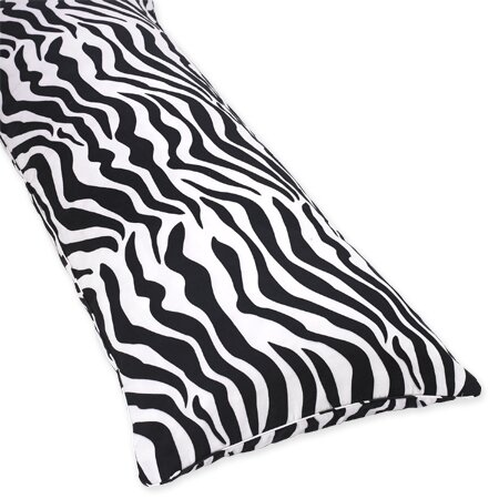 Zebra Microfiber Body Pillow Case by Sweet Jojo Designs