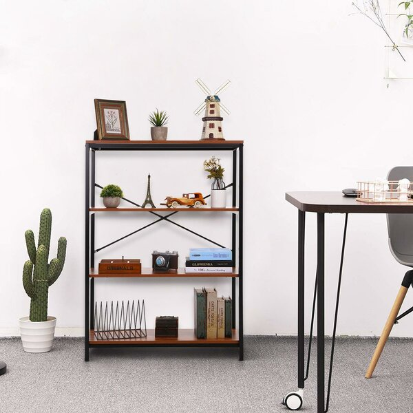 Crum Wooden Etagere Bookcase By Gracie Oaks