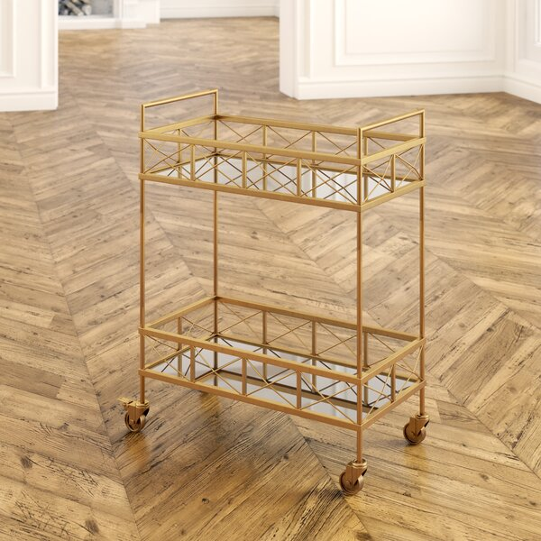 Wirksworth 2 Tier Bar Cart by Wrought Studio