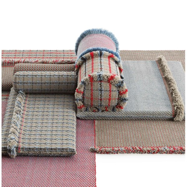Garden Layers Checks Outdoor Throw Pillow by Gandia Blasco