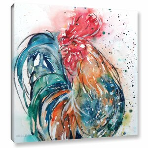 Cockerel 16 Painting Print on Wrapped Canvas by Latitude Run