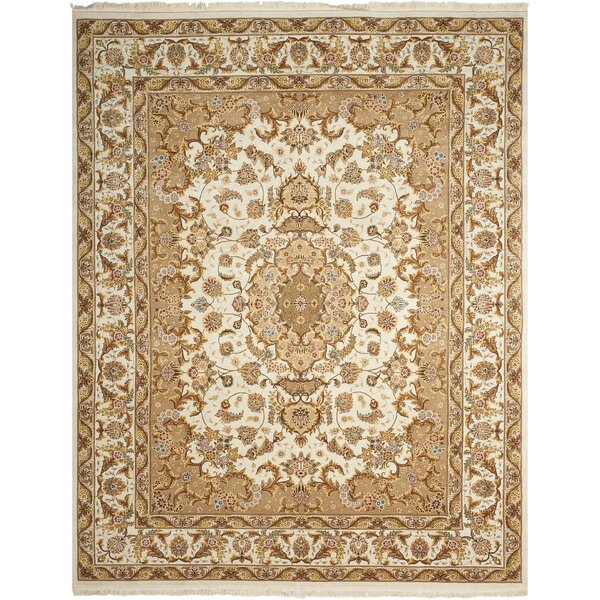 Bloomville Hand-Knotted Wool Ivory Area Rug