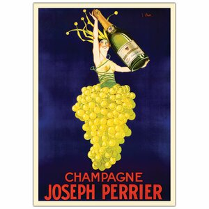 'Champagne Joseph Perrier' Framed Vintage Advertisement on Wrapped Canvas by Trademark Fine Art