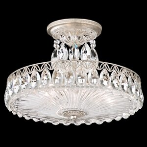 Fontana Luce 3-Light Semi Flush Mount by Schonbek