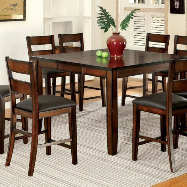 RJ Cottage Counter Height Solid Wood Dining Table by Red Barrel Studio