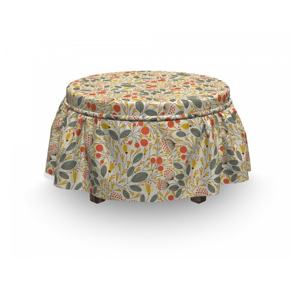 Hand Drawn Growth Ottoman Slipcover (Set Of 2) By East Urban Home
