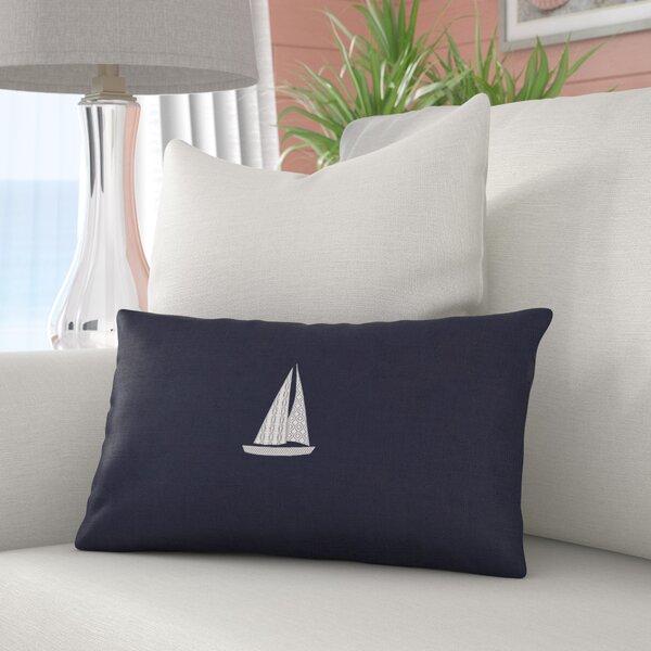 Hampden Sailboat Indoor/Outdoor Sunbrella Throw Pillow by Beachcrest Home