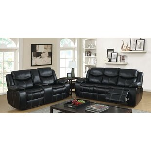 Lumaire 2 Piece Faux Leather Reclining Living Room Set by Red Barrel Studio®