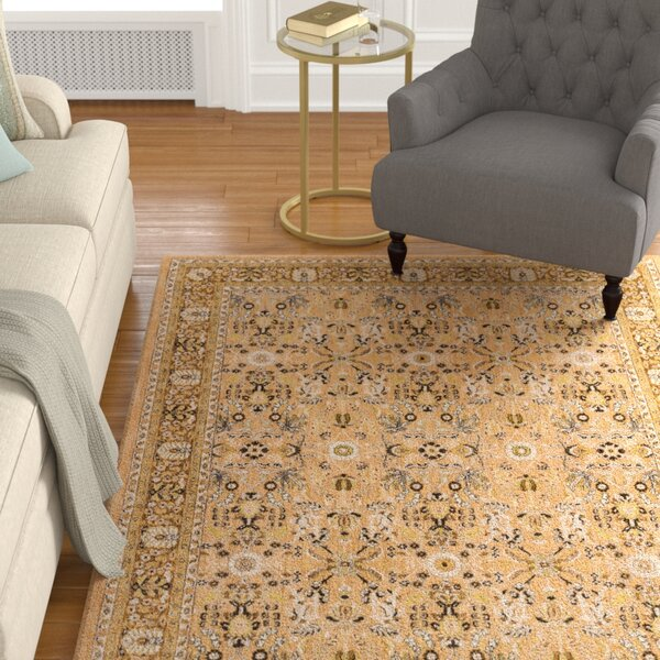Jepson Gold/Silver Area Rug by Astoria Grand