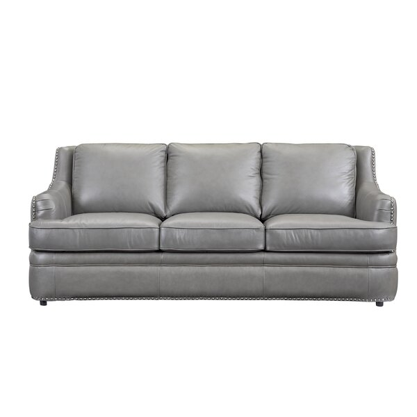 Dreyer Leather Sofa by Canora Grey