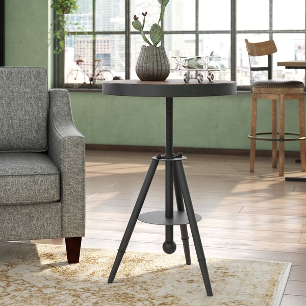 Biggs Adjustable Wood/Metal End Table by Trent Austin Design