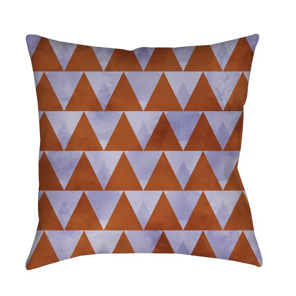 Triangles Printed Throw Pillow by Manual Woodworkers & Weavers