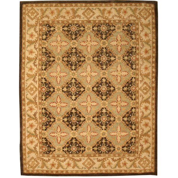 Kyathampalle Hand-Tufted Brown Area Rug by Meridian Rugmakers