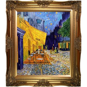 Cafe Terrace at Night by Vincent Van Gogh Painting Print on Canvas by Tori Home