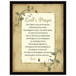 Simple Expressions Lord's Prayer Wood Framed Textual Art by Dexsa