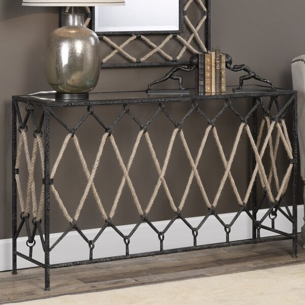 Review Breana Spruce Knob Console Table
