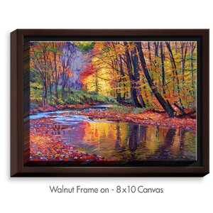 'Autumn Prelude' by David Lloyd Glover Painting Print on Wrapped Framed Canvas by DiaNoche Designs