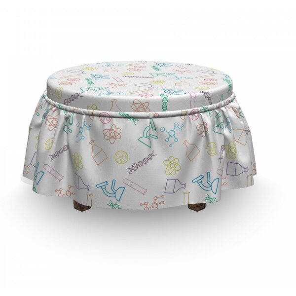 Chemistry Instruments Ottoman Slipcover (Set Of 2) By East Urban Home