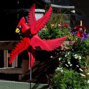 Attirant Cardinal Whirligig Ground Spinner