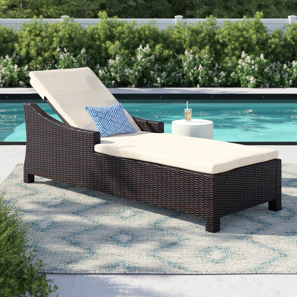 Bentonville Reclining Chaise Lounge with Cushion by Sol 72 Outdoor Sol 72 Outdoor