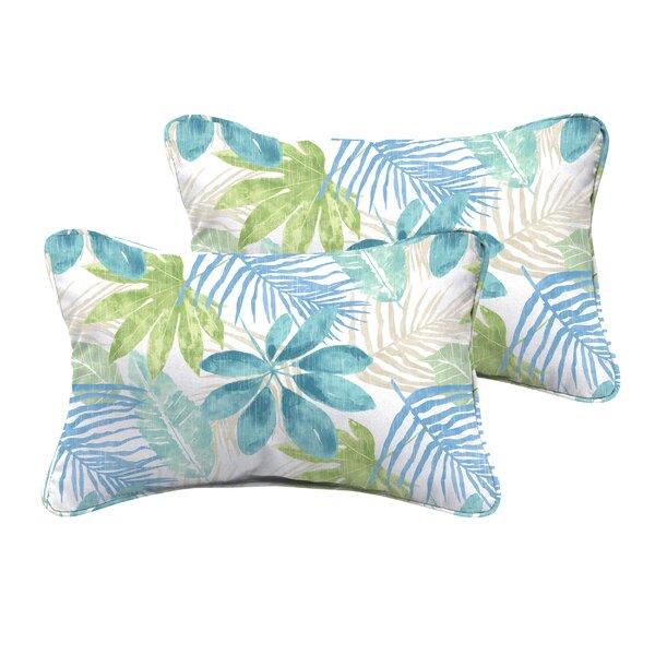Darcio Indoor/Outdoor Lumbar Pillow (Set of 2) by Highland Dunes