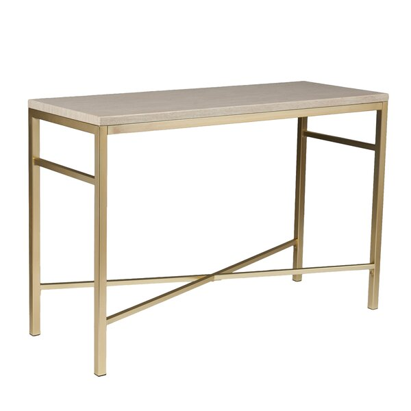 Review Lindsey Console Table In Travertine