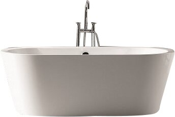 Ovale 59 x 29.38 Soaking Bathtub by Kube Bath