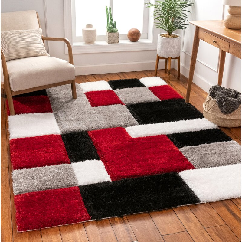 Well Woven San Francisco Shag Red Black