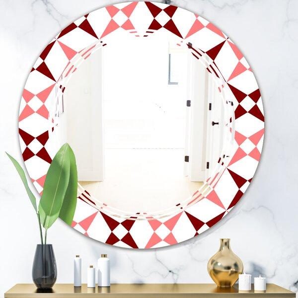 Triple C Grid Pattern I Modern Frameless Wall Mirror