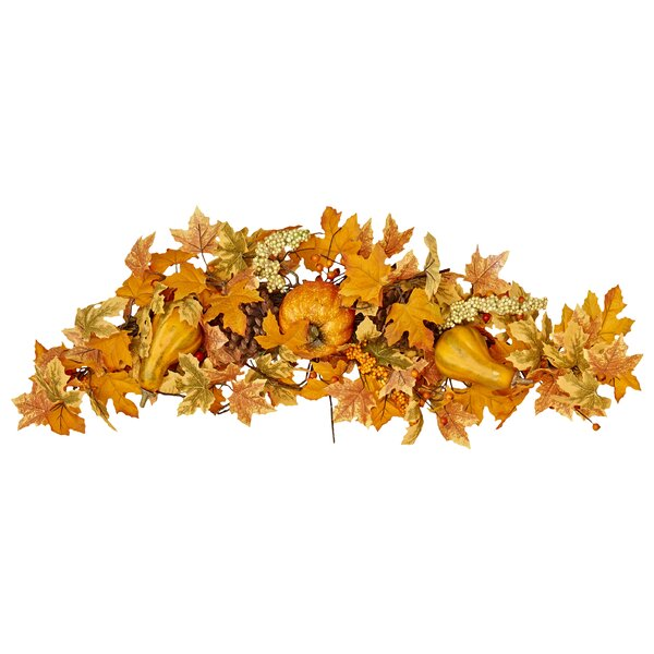 Maple Leaf with Pumpkin Swag by Worth Imports