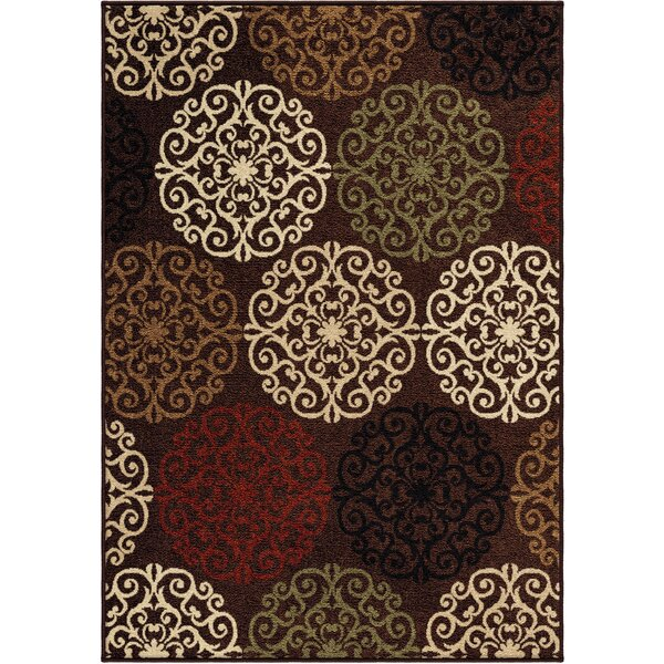 Cameron Brown Indoor/Outdoor Area Rug by Threadbind