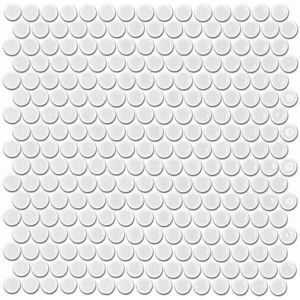 Bliss 0.75 x 0.75 Ceramic Mosaic Tile in White by Splashback Tile