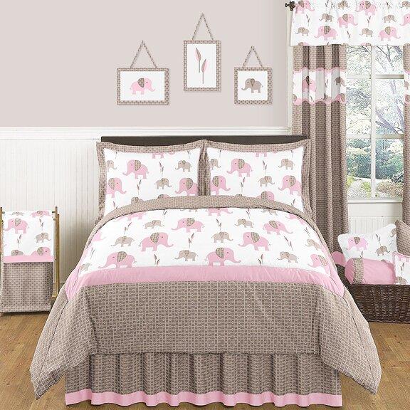 Elephant Pink Comforter Set by Sweet Jojo Designs