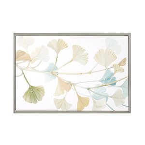 Spring Ginkgo Leaves Painting Print on Wrapped Canvas by Madison Park Signature