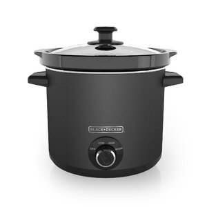 4-Qt Dial Control Slow Cooker with Built-in Lid Holder