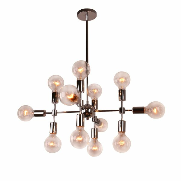 Modern Geometric 12-Light Chandelier by Unitary