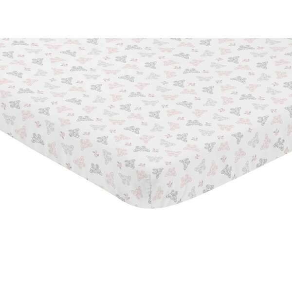 Alexa Butterfly Mini Fitted Crib Sheet by Sweet Jojo Designs