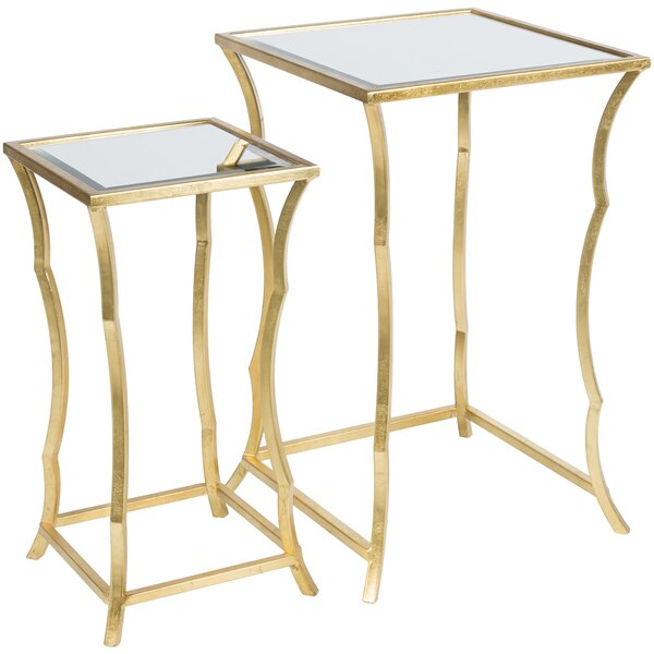 Bridgwater ly-Inspired 2 Piece Nesting Table by Everly Quinn