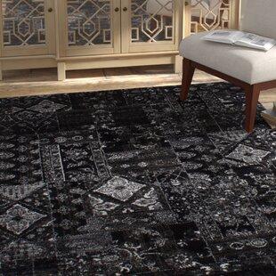 Affordable One-of-a-Kind Ossu 65 x 92 Black Area Rug ByBungalow Rose
