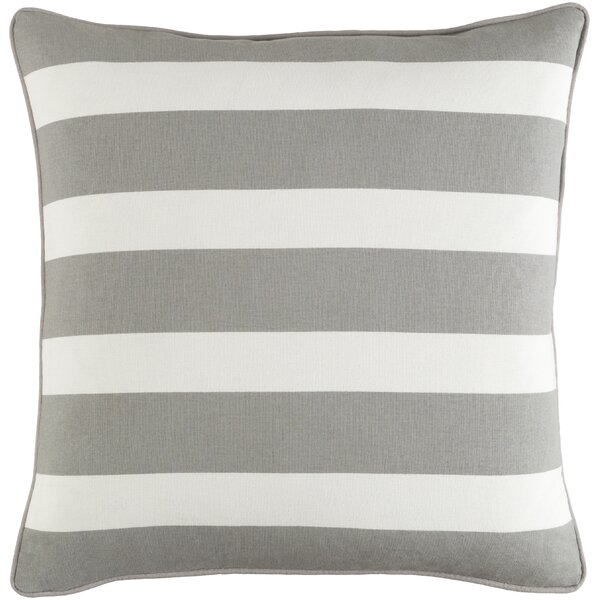 Carnell Stripe Cotton Throw Pillow Cover by Mercury Row