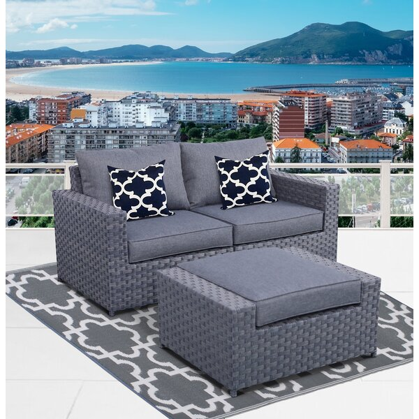 Palomino Loveseat with Cushions by Highland Dunes Highland Dunes