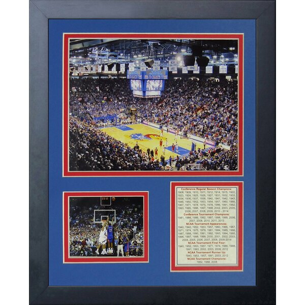 Allen Fieldhouse - Kansas Jayhawks Framed Memorabilia by Legends Never Die