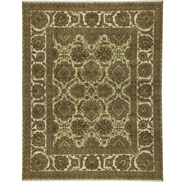 One-of-a-Kind Mountain King Hand-Knotted Beige/Brown 12' x 15'1 Wool Area Rug