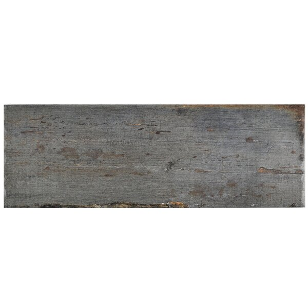 Rama 8.25 x 23.5 Porcelain Wood Look/Field Tile in Gray by EliteTile