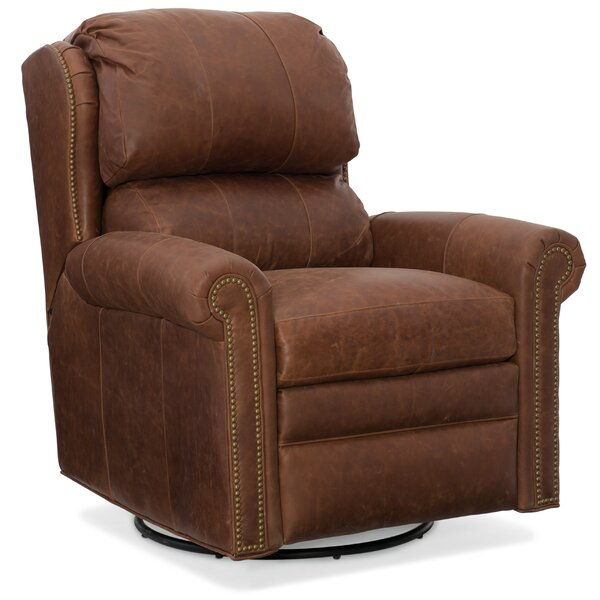 Satchel Leather Manual Wall Hugger Recliner by Bradington-Young