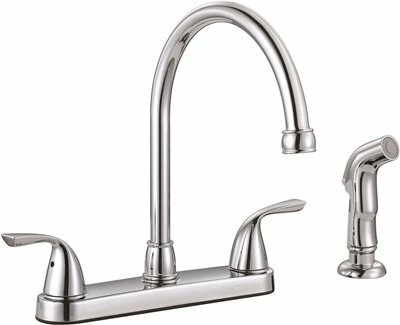 Sanibel™ Double Handle Kitchen Faucet with Side Spray by Premier Faucet