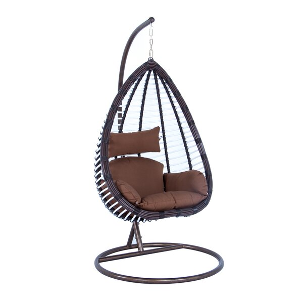 Schumacher Wicker Hanging Egg Swing Chair with Stand by Bayou Breeze