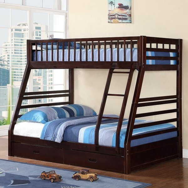 Izaiah Twin Over Full Bunk Bed with Drawers by Harriet Bee