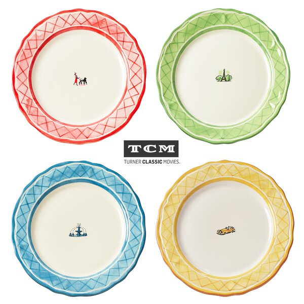 TCM An American in Paris 4 Piece Dinner Plate Set by Euro Ceramica