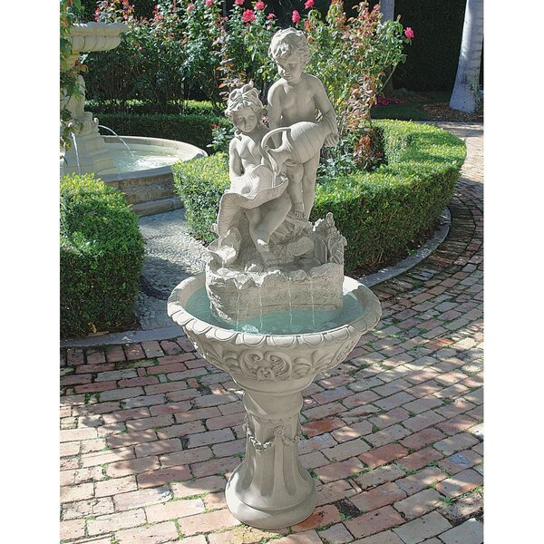 Resin Portare Acqua Italian Style Sculptural Fountain by Wildon Home ®